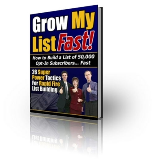 Product picture Grow My List Fast With Master Resell Rights