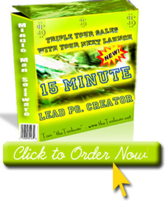 Product picture 15 Minute Lead Capture Page Creator